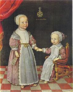 Portret van twee kinderen uit de Gyllenstierna familie