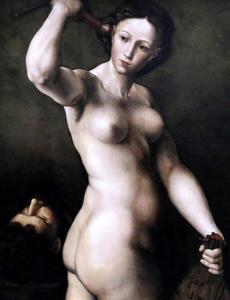Judith met het zwaard en hoofd van Holofernes