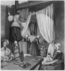 Kraam op een kermis aan de weg tussen Rotterdam en Schiedam, juli 1838