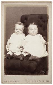 Portret van een tweeling uit familie Leusen
