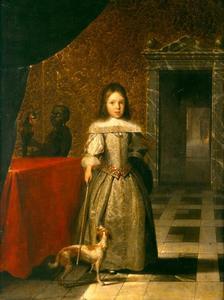 Portret van Isaac le Petit (1651-1723), met een bediende
