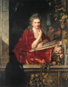 Zelfportret van Anna Dorothea Therbusch, geb. von Lisiewska (1721-1782)