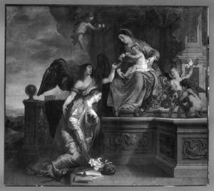 De kroning van de H. Rosalie door de H. Maagd