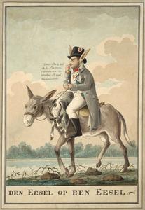 De ezel op een ezel