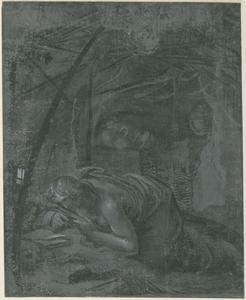Boetende Maria Magdalena in de woestijn