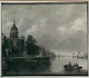 Het Groothoofd te Dordrecht met de Groothoofdspoort