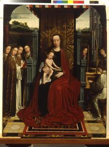 Maria en kind met musicerende engelen