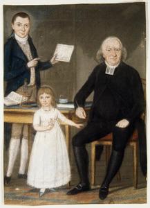 Portret van Joost Gerard Kist (1756-1815) met twee van zijn kinderen