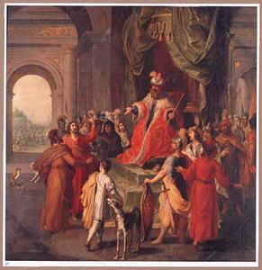 Mozes en Aäron vragen farao tevergeefs het Joodse volk te laten gaan (Exodus 5:1-13)
