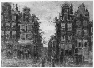 Gezicht op de 'Wijde Heisteeg' te Amsterdam