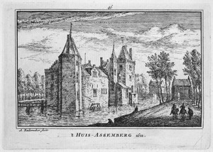 Slot Assumburg te Heemskerk in 1612
