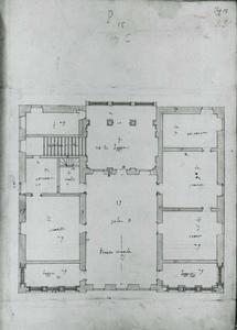 Villa Spinola di San Pietro: Plan van de hoofdverdieping