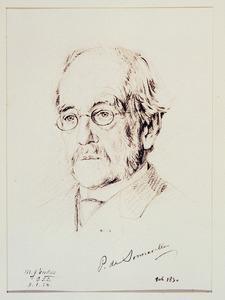 Portret van Petrus Josephus de Sonnaville (1830-1925)