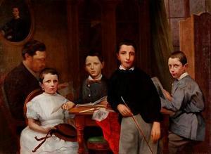 Portret van de familie van Frederik Jacobus Brevet (1834-1892)