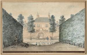 De voorzijde van het huis te Goidschalxoord