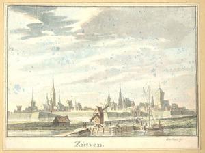 Gezicht op Zutphen, vanaf de IJsselkant