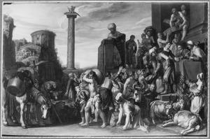 Jozef deelt koren uit in Egypte