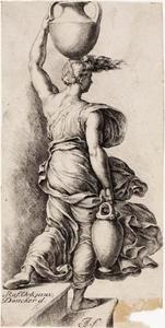 Vrouw met een waterkan