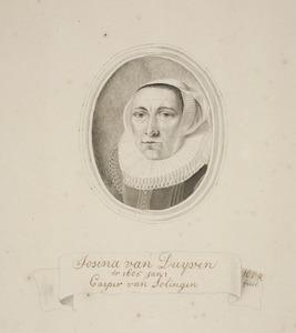 Portret van Josina van Duyven (1584-1640)