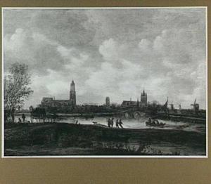 Gezicht op Delft vanuit het noorden