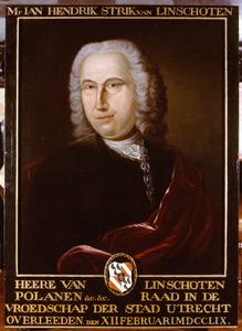 Portret van Johan Hendrik Strick van Linschoten (1687-1759)