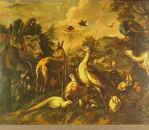 Dieren op weg naar de ark van Noach (Genesis 7:15-16)