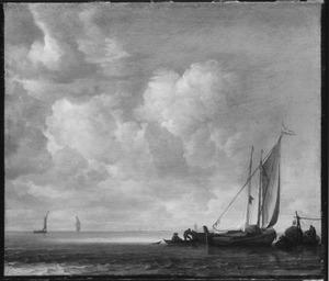 Vissersschepen op een kalme zee