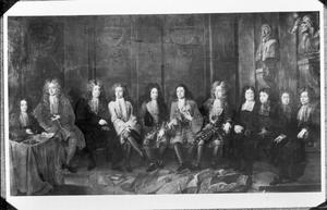 De leden van het bestuurs- en rechtscollege van de Brusselse lakengilde