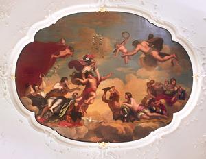 Plafondschildering met godenverzameling