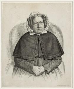 Portret van Cornelia Martina van der Goes (1780-1859)