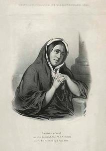 Laatste arbeid van de kunstschilder W.H. Schmidt, overleden  te delft op 1 Juni 1849