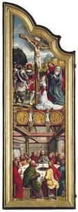 De kruisiging (boven); Het laatste avondmaal (onder)