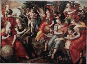 Allegorie van de vrije kunsten en de vergankelijkheid