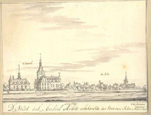 Gezicht op de stad en het kasteel Anholt vanuit het zuidwesten