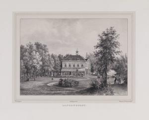 Parklandschap met gezicht op de hofstede Langenhorst