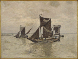 Drie Hoogaarsen uit Arnemuiden op zee