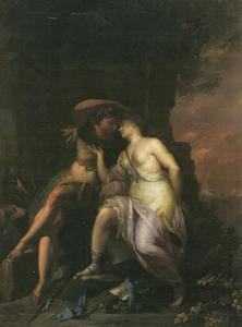 Dido en Aeneas als minnaars in de grot