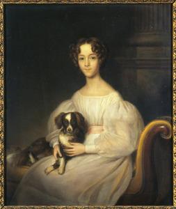 Portret van Gustavine Otteline Frederique Sophie barones van Nagell (1822-1883)