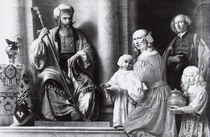 Hanna draagt Samuel over aan Eli: portret van de familie van François Wijnants (1632-1680)