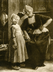 Moeder en dochter in klederdracht