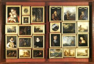 Tweeluik met schilderijen uit de collectie van Johann Valentin Prehn (1749-1821),sectie 22
