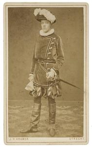 Portret van Willem Antonie Oudegeest (1860-1912) als Hollandsche ruiter