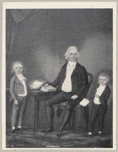 Portret van Pieter Costerus (1734-1819) en twee zonen