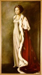Portret van Beatrix Wilhelmina Armgard van Oranje- Nassau (1938- ....)