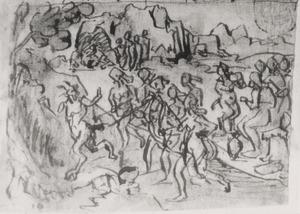 Apollonius van Tyana bedwingt de geest van een sater in Ethiopië