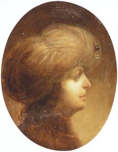 Portret van een onbekende jongen met een tulband