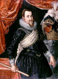 Portret van koning Christiaan IV van Denemarken (1577-1648)