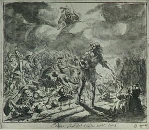 Cadmus zaait de tanden van de draak (Ovidius Metamorphosen, 3:50-150)