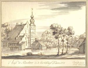 Gezicht op het huis de Manhorst bij Didam