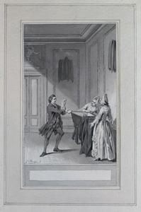 Illustratie bij 'De tederhartige man' uit de Fabelen en vertelsels van F.C. Gellert